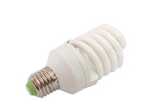 Energy saving fluorescent light bulb isolated Stock Image