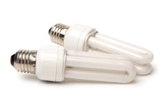 Energy saving fluorescent light Royalty Free Stock Photos