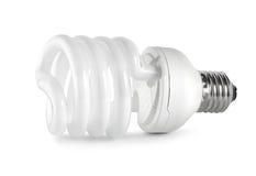Energy saving  fluorescent lightbulb Path(0).jpg Royalty Free Stock Image
