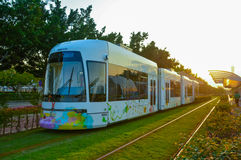 Energy saving green urban rail transit Stock Images