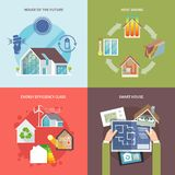 Energy Saving House Flat Royalty Free Stock Photography