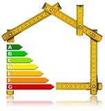 Energy Saving - House Meter Tool Stock Photos