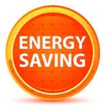 Energy Saving Natural Orange Round Button stock illustration