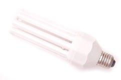 Energy saving lamp. Isolated on white background stock photo