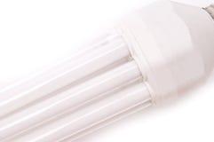 Energy saving lamp. Isolated on white background stock photography