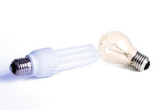 Energy saving lamp Stock Photos