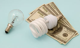 Energy saving lamp Royalty Free Stock Photography