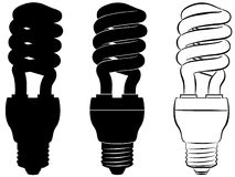 Energy-saving lamp. The image energy-saving the lamp, executed by outlines Royalty Free Illustration