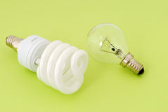 Energy saving lamp Stock Image