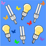 Energy saving lamp Stock Image