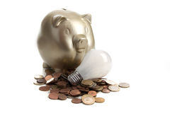 Energy saving lamp Royalty Free Stock Images
