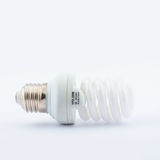 Energy Saving lamp. Energy Saving Fluorescent Lightbulb Isolated on White Background stock images