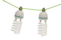 Energy saving lamp isolated on the white Stock Photos