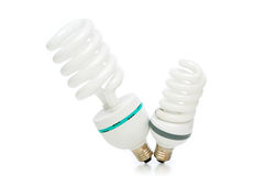 Energy saving lamp isolated on the white Royalty Free Stock Photo