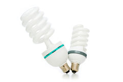 Energy saving lamp isolated on the white Stock Photography