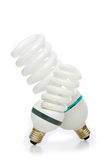 Energy saving lamp isolated on the white Stock Images