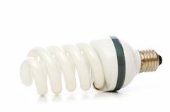 Energy saving lamp isolated on the white Royalty Free Stock Photos