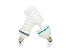 Energy saving lamp isolated on the white Royalty Free Stock Image