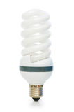 Energy saving lamp isolated on the white Royalty Free Stock Photography