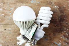 Energy-saving lamp Royalty Free Stock Photography