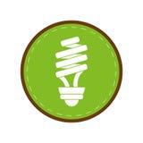 Energy saving lamp light bulb green circle Royalty Free Stock Photo