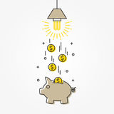 Energy saving lamp vector illustration Royalty Free Stock Photos