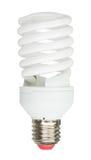 Energy saving lamp on white background Royalty Free Stock Photo