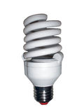 Energy saving lamp. On a white background royalty free stock photos