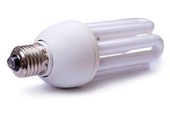 Energy saving lamp on white Stock Image