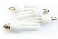 Energy saving lamps Stock Photo