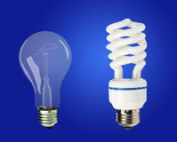 Energy-saving lamps Royalty Free Stock Images