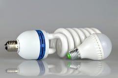 Energy saving led bulbs Royalty Free Stock Images