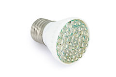 Energy saving LED light bulb E27. On white background with clipping path Stock Photography