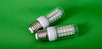 Energy saving LED light bulb. Picture of a  Energy saving LED light bulb, Envronment friendly,green energy Royalty Free Stock Images