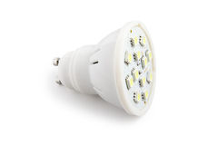 Energy saving LED light bulb (SMD) Royalty Free Stock Photo