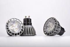 Energy saving LED light bulb. Three Energy saving LED light bulbs Stock Photography