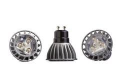 Energy saving LED light bulb. Three Energy saving LED light bulbs isolated on white background Royalty Free Stock Image