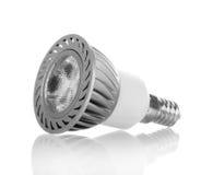 Energy-saving LED light bulb  on white. Energy-saving LED light bulb  on white background Royalty Free Stock Image