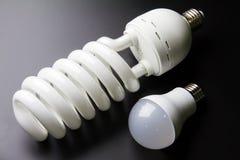 Energy saving LED light bulbs. Energy saving LED light bulbs Royalty Free Stock Images