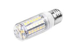 Energy-saving LEIDENE die lamp op wit wordt geïsoleerd Royalty-vrije Stock Fotografie