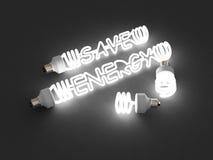 Energy saving light stock illustration