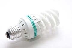Energy-Saving Light Bulb. On  white background close-up Royalty Free Stock Photos