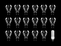 Energy Saving Light Bulb Stock Images