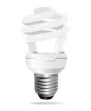 Energy saving light bulb. Vector Royalty Free Stock Photography