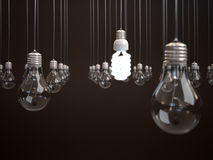 Energy saving light bulb. Stock Images