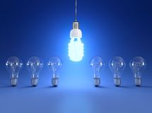 Energy saving light bulb Stock Photo