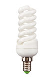 Energy saving light bulb. Isolated on white Royalty Free Stock Photography