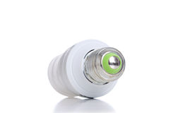 Energy saving light bulb with green line Royalty Free Stock Images
