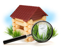 Energy saving light bulb in house Stock Photos