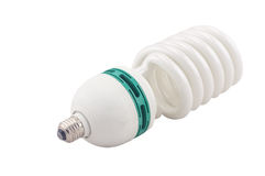 Energy saving light bulb. Isolated royalty free stock image